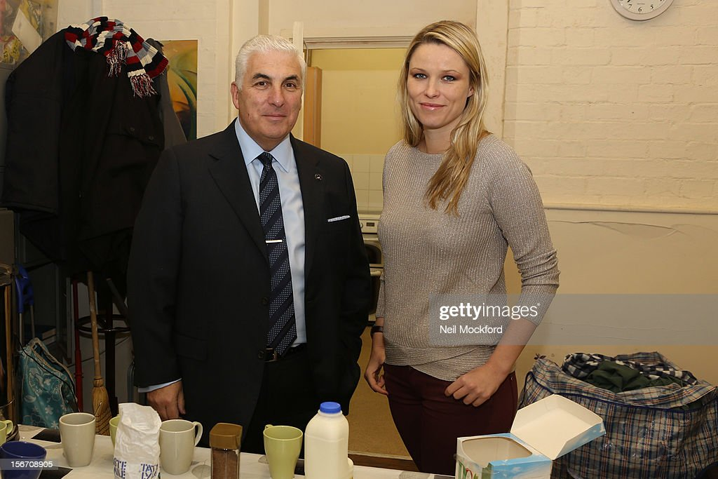 Mitch Winehouse and Kiera Chaplin help out making tea to show what funds raised by The Amy Winehouse Foundation are being used for at The Pillion Trust Crashpad on November 19, 2012 in London, England.