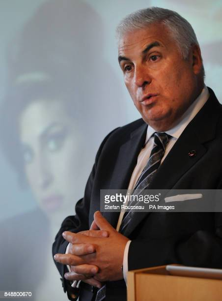 Mitch Winehouse father of the late singer Amy Winehouse speaks at the launch of the first national campaign to tackle 'legal highs' in London