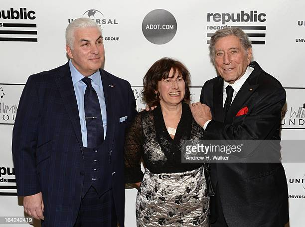 Mitch Winehouse Janis Winehouse Collins and Tony Bennett attend the 2013 Amy Winehouse Foundation Inspiration Awards and Gala at The Waldorf=Astoria...