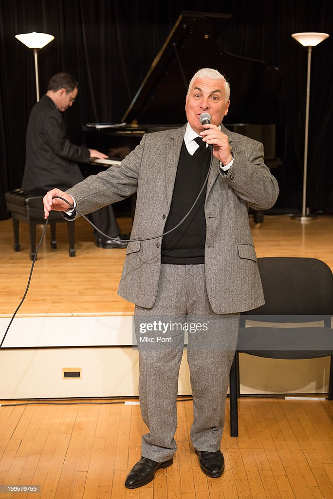 Mitch Winehouse Performs at The Amy Winehouse Foundation Grant award presentation at Brooklyn Conservatory of Music on January 16, 2013 in New York City.