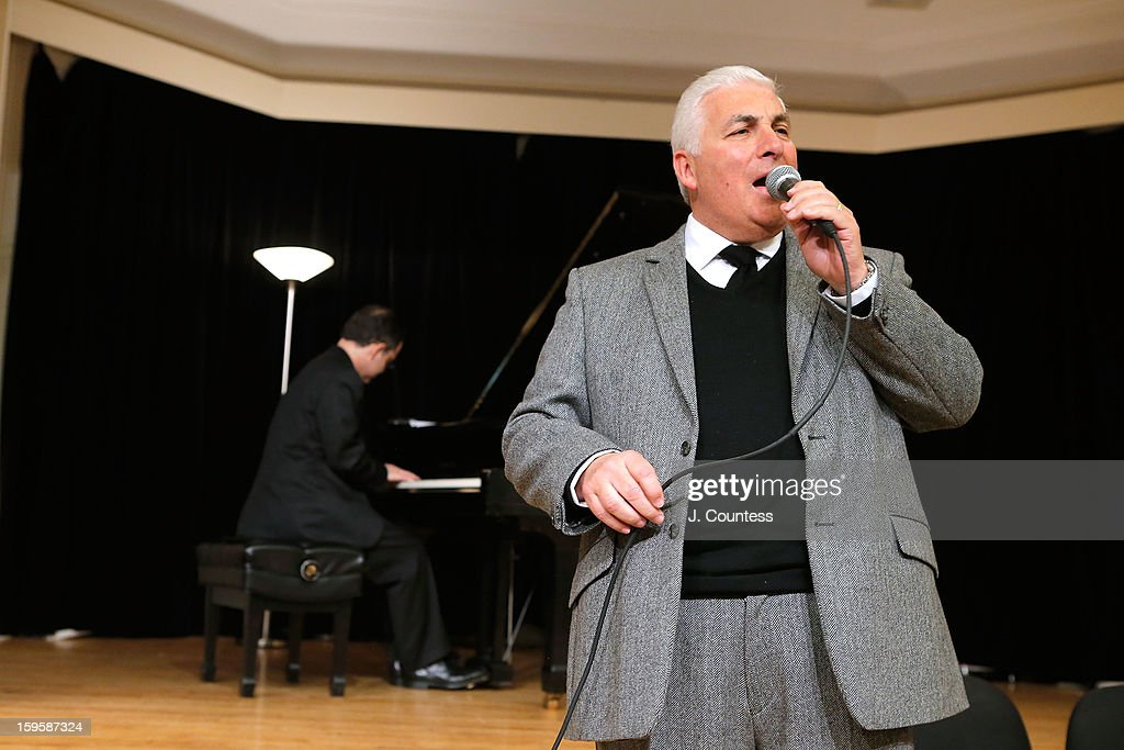 Mitch Winehouse performs during a grant award presentation by the The Amy Winehouse Foundation at the Brooklyn Conservatory of Music on January 16, 2013 in New York City.
