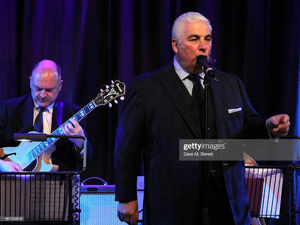 Mitch Winehouse performs during an evening in aid of the 'Amy Winehouse Foundation', at the hippodrome, on April 28, 2013 in London, England.