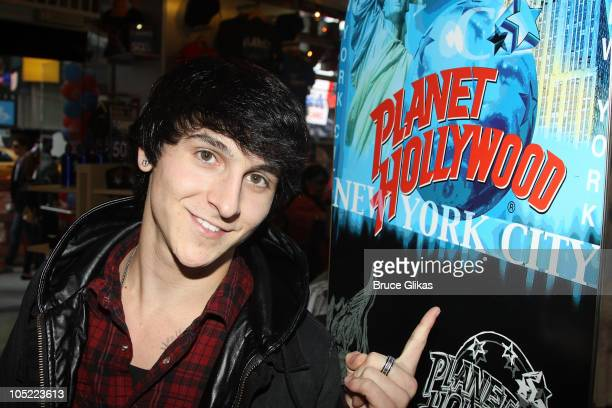 Mitchel Musso poses as he promotes his new album 'Brainstorm' at Planet Hollywood Times Square on October 12 2010 in New York City