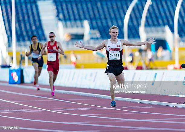 Mitchell Chase Canadian Paralympic Athlete gold winning moments Athletics competition and medals ceremonies during the Toronto Parapan Am Games 2015