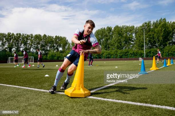 Mitchell Clarke of Aston Villa in action during a Aston Villa U23's training session at the club's training ground at Bodymoor Heath on May 22 2017...