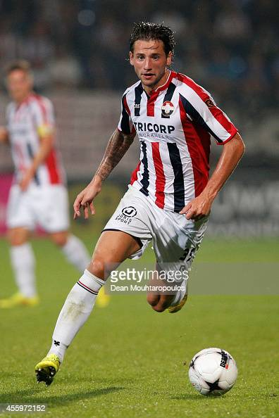 Mitchell Dijks of Willem II in action during the Dutch Eredivisie match between Willem II Tilburg and NAC Breda at Koning Willem II Stadium on...