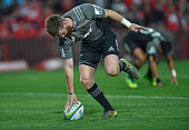 Mitchell Drummond of the Crusaders scores a try during the Super Rugby quarter final clash between the Emirates Lions and the Crusaders at Ellis Park...