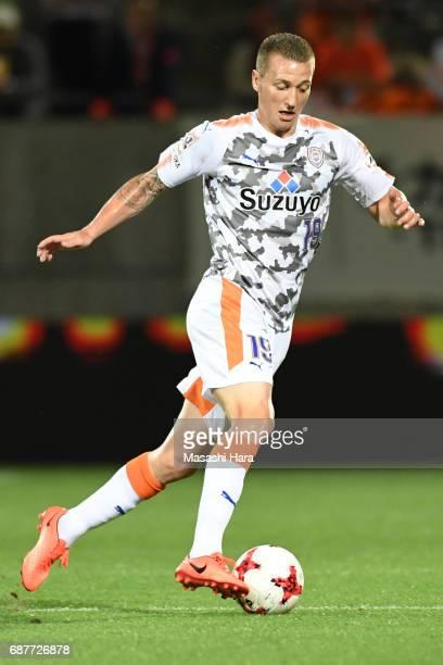 Mitchell Duke of Shimizu SPulse in action during the JLeague Levain Cup Group A match between Omiya Ardija and Shimizu SPulse at NACK 5 Stadium Omiya...