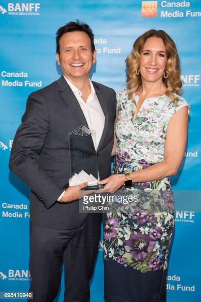 Mitchell Gabourie and Andrea Gabourie of Forte Entertainment in association with Pivotal Media Canada win Best Lifestyle Program for 'Hello Goodbye'...
