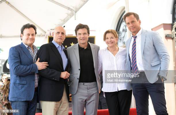 Mitchell Hurwitz Jeffrey Tambor Jason Bateman Jessica Walter Will Arnett attends The Hollywood Walk of Fame Star Ceremony honoring Jason Bateman on...