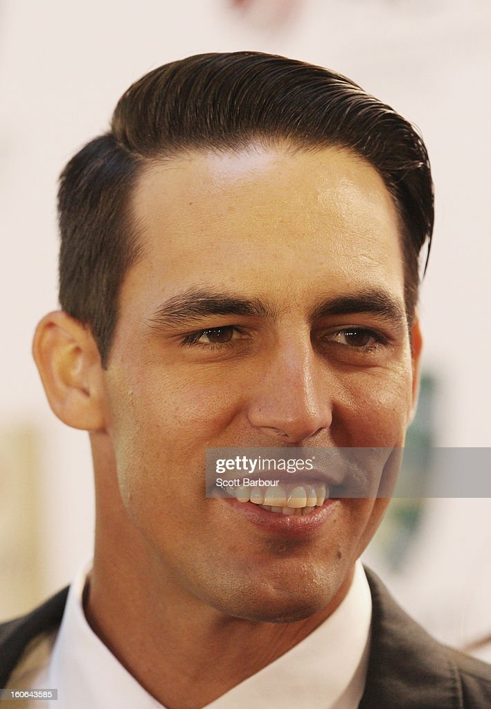 Mitchell Johnson arrives to attend the 2013 Allan Border Medal awards ceremony at Crown Palladium on February 4, 2013 in Melbourne, Australia.