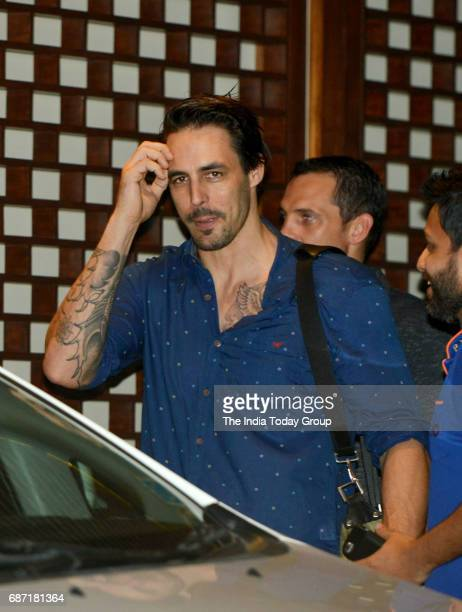 Mitchell Johnson during the party organised to celebrate Mumbai Indians victory in the Indian Premier League 2017 in Mumbai