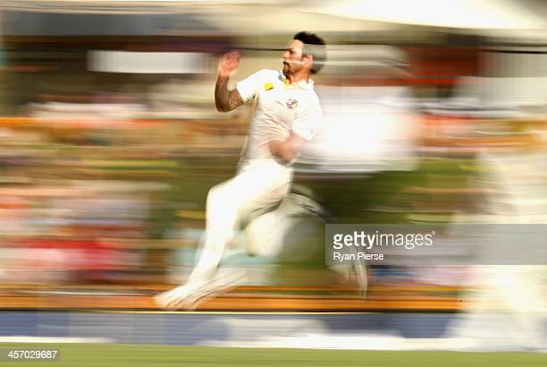 Mitchell Johnson of Australia bowls during day four of the Third Ashes Test Match between Australia and England at WACA on December 16 2013 in Perth...