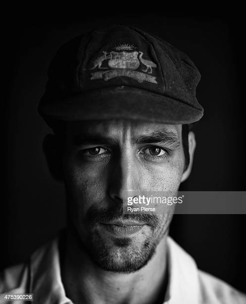 Mitchell Johnson of Australia poses during an Australian portrait session on May 31 2015 in Roseau Dominica