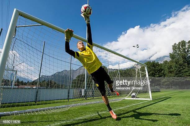 Mitchell Langerak of Borussia Dortmund during a training session in the Borussia Dortmund training camp on July 31 2014 in Bad Ragaz Switzerland