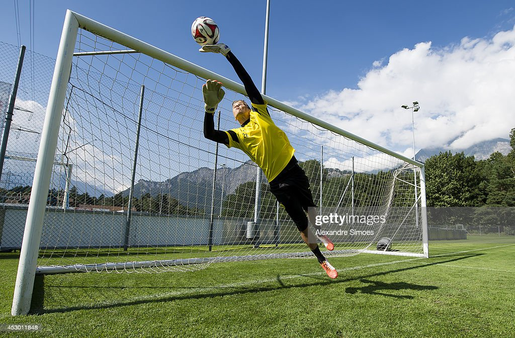 Mitchell Langerak (BVB) of Borussia Dortmund during a training session in the Borussia Dortmund training camp on July 31, 2014 in Bad Ragaz, Switzerland.