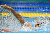 Mitchell Larkin of Australia competes in Men's 200m Backstroke final during the FINA Swimming World Cup 2015 at Tokyo Tatsumi International Swimming...