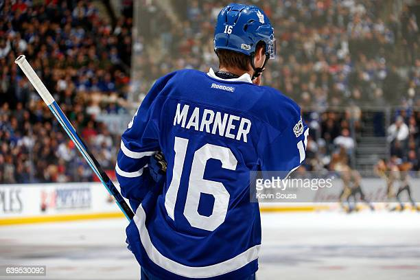 Mitchell Marner of the Toronto Maple Leafs during an NHL game against the Ottawa Senators during the first period at the Air Canada Centre on January...