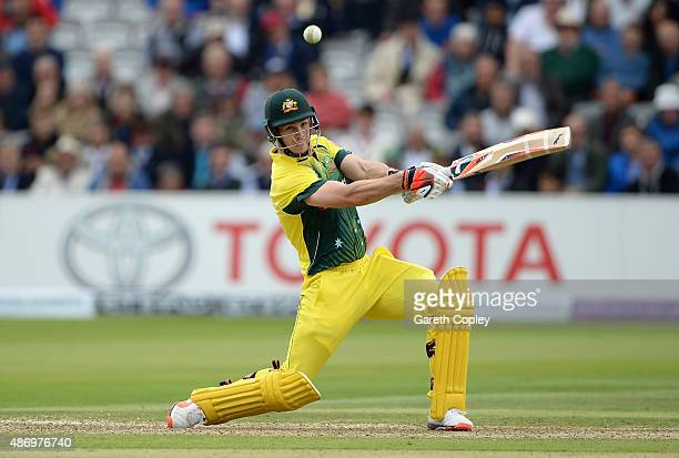 Mitchell Marsh of Australia bats during the 2nd Royal London OneDay International match between England and Australia at Lord's Cricket Ground on...