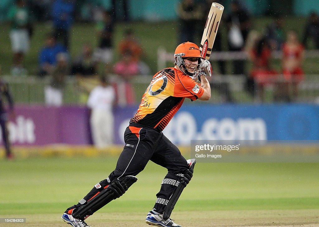 Mitchell Marsh of Perth Scorchers in action during the Karbonn Smart CLT20 match between Kolkata Knight Riders and Perth Scorchers at Sahara Stadium Kingsmead on October 17, 2012 in Durban, South Africa.