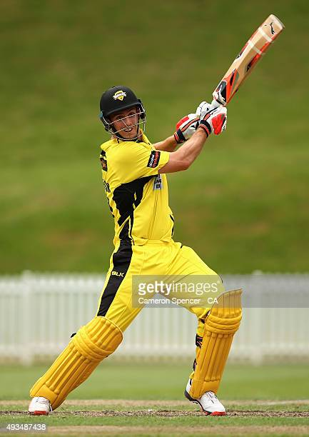 Mitchell Marsh of Western Australia bats during the Matador BBQs One Day Cup match between Western Australia and Queensland at Drummoyne Oval on...