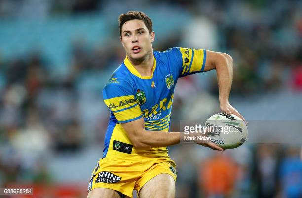 Mitchell Moses of the Eels in action during the round 12 NRL match between the South Sydney Rabbitohs and the Parramatta Eels at ANZ Stadium on May...