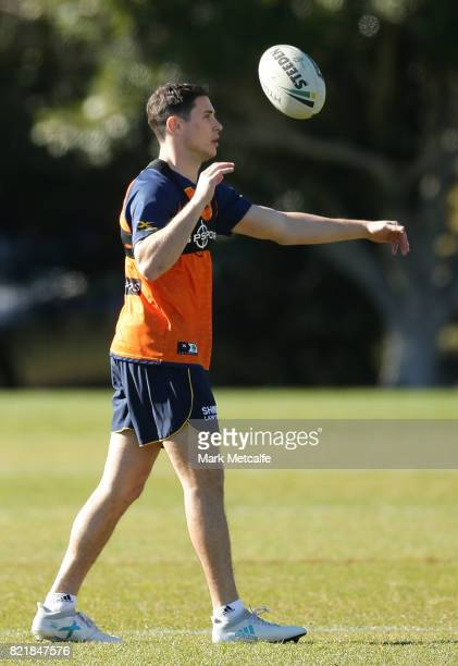 Mitchell Moses of the Eels warms up during a Parramatta Eels NRL training session at on July 25 2017 in Sydney Australia