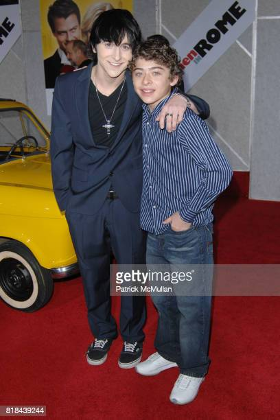Mitchell Musso and Ryan Ochoa attend WHEN IN ROME World Premiere at El Capitan Theatre on January 27 2010 in Hollywood California