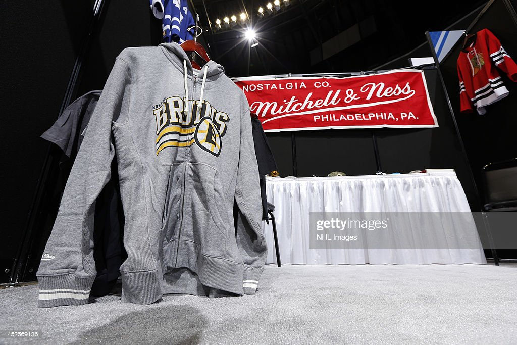 Mitchell & Ness displays their apparel at the 2014 NHL Exchange at Pepsi Center on July 22, 2014, in Denver, Colorado.