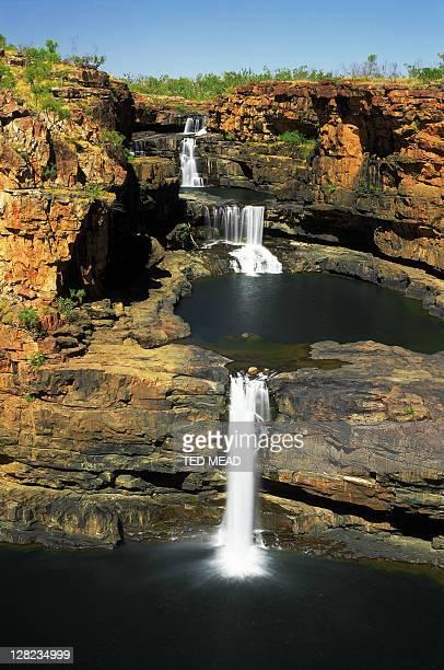 mitchell river falls, kimberley region, western australia