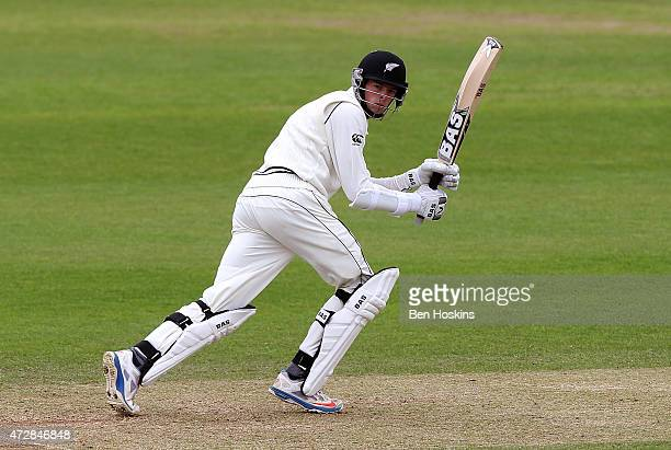 Mitchell Santner of New Zealand in action during a tour match between Somerset and New Zealand at The County Ground on May 10 2015 in Taunton England
