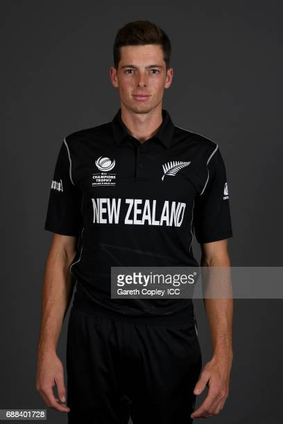 Mitchell Santner of New Zealand poses for a portrait at the team hotel on May 25 2017 in London England