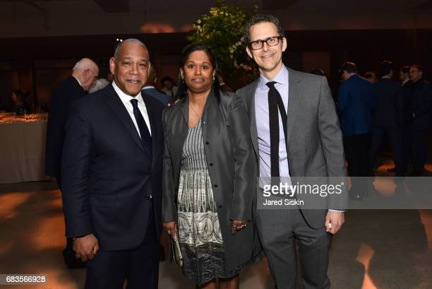 Mitchell Silver Mary Silver and Robert Hammond attend The 2017 High Line Spring Benefit at Skylight Modern on May 15 2017 in New York City