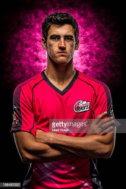 Mitchell Starc of the Sydney Sixers poses during a 2012/13 Big Bash League portrait session on August 9 2012 in Darwin Australia