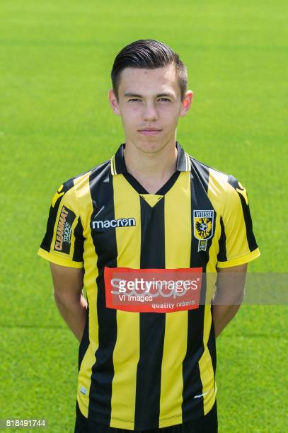 Mitchell van Bergen during the team presentation of Vitesse Arnhem on July 18 2017 at the Papendal training complex in Arnhem The Netherlands