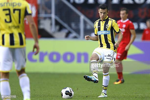 Mitchell van Bergen of Vitesse Arnhem during the Dutch Eredivisie match between FC Twente and Vitesse Arnhem at the Grolsch Veste on September 25...