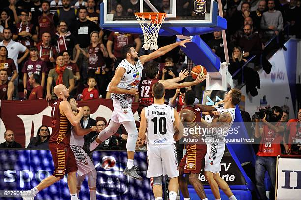 Mitchell Watt of Pasta Reggia competes with Ariel Filloy of Umana during the LegaBasket Serie A match between Reyer Umana Venezia and Juventus Pasta...