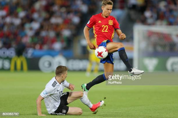 Mitchell Weiser Marcos Llorente during the UEFA U21 Final match between Germany and Spain at Krakow Stadium on June 30 2017 in Krakow Poland