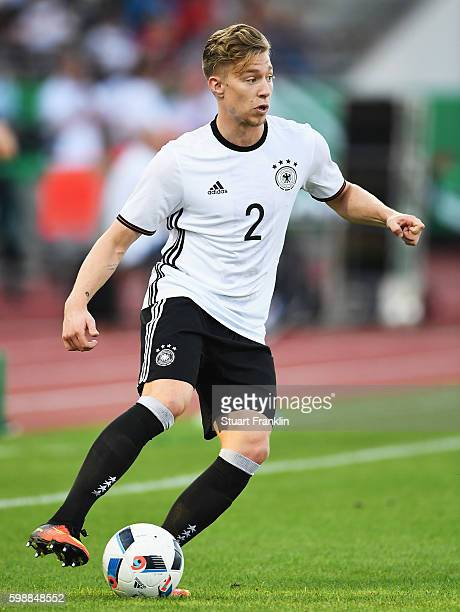 Mitchell Weiser of Germany in action during the Under21 friendly match between U21 Germany and U21 Slovakia at Auestadion on September 2 2016 in...