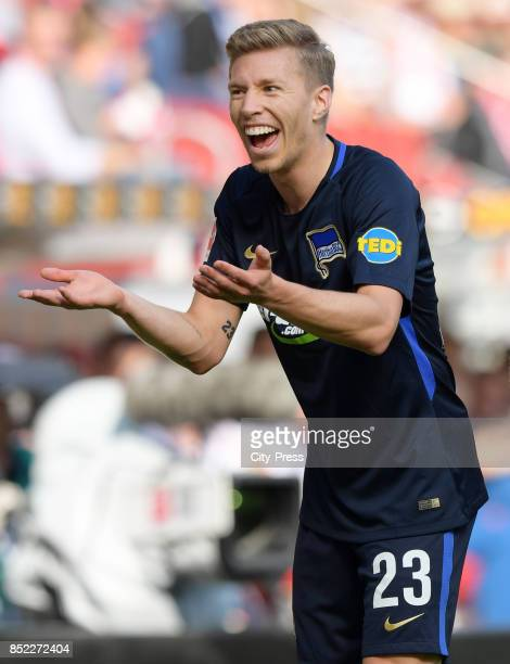 Mitchell Weiser of Hertha BSC during the game between FSV Mainz 05 and Hertha BSC on september 23 2017 in Mainz Germany
