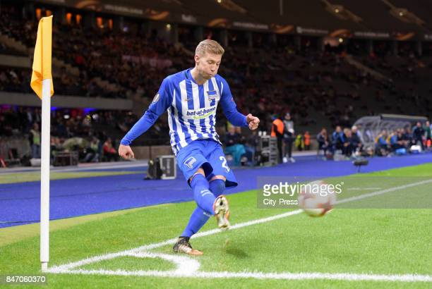 Mitchell Weiser of Hertha BSC during the game between Hertha BSC and Athletic Bilbao on september 14 2017 in Berlin Germany