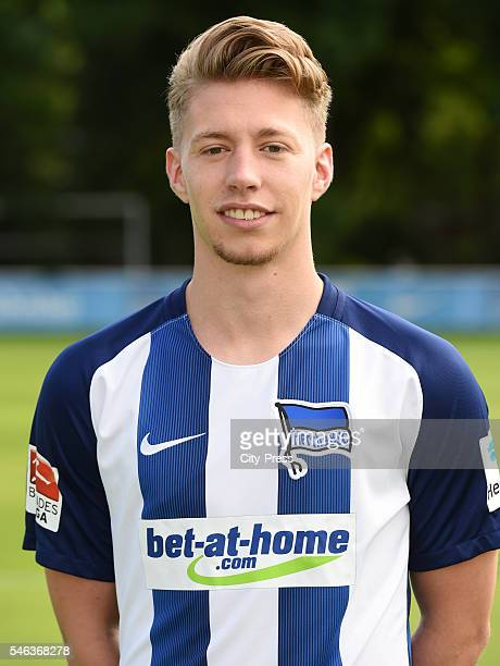 Mitchell Weiser of Hertha BSC during the portrait shot of Hertha BSC on July 12 2016 in Berlin Germany
