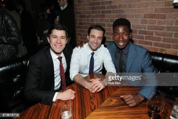 Mitchell Winter Adam Griffith and Mamoudou Athie attend the afterparty for 'The Circle' during the 2017 Tribeca Film Festival at American Cut Tribeca...