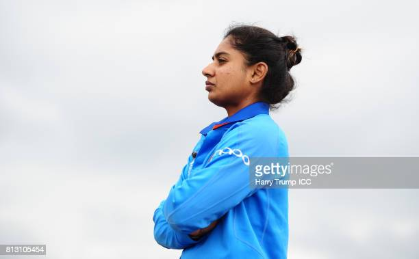 Mithali Raj Captain of India during the ICC Women's World Cup 2017 match between Australia and India at The County Ground on July 12 2017 in Bristol...
