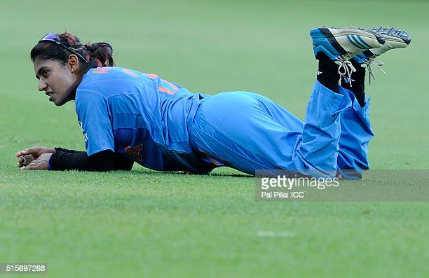 Mithali Raj Captain of India during the Women's ICC World Twenty20 India 2016 match between India and Bangladesh at the Chinnaswamy stadium on March...