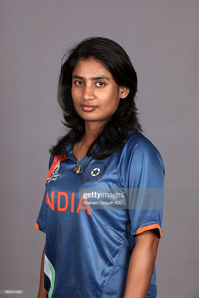 Mithali Raj, captain of India poses at a portrait session ahead of the ICC Womens World Cup 2013 at the Taj Mahal Palace Hotel on January 27, 2013 in Mumbai, India.