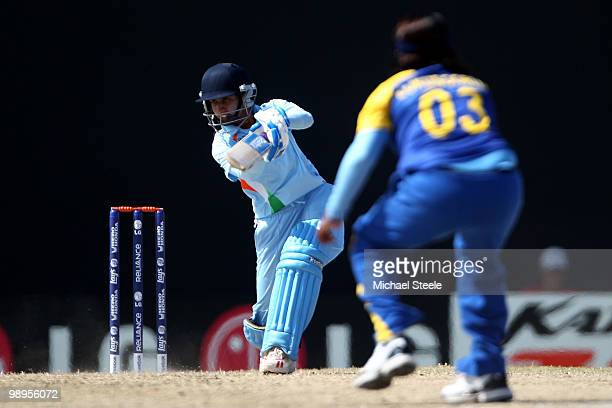 Mithali Raj of India batting during the ICC T20 Women's World Cup Group B match between India and Sri Lanka at Warner Park on May 10 2010 in St Kitts...