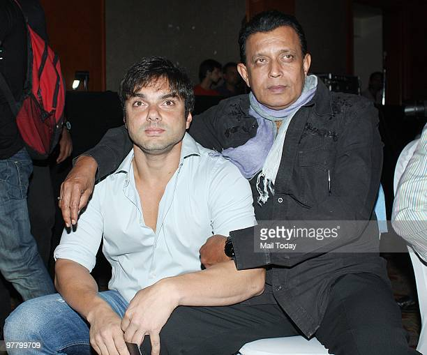 Mithun Chakraborty and Sohail Khan at a press conference for the show Superstars Ka Jalwa in Mumbai on Tuesday March 15 2010