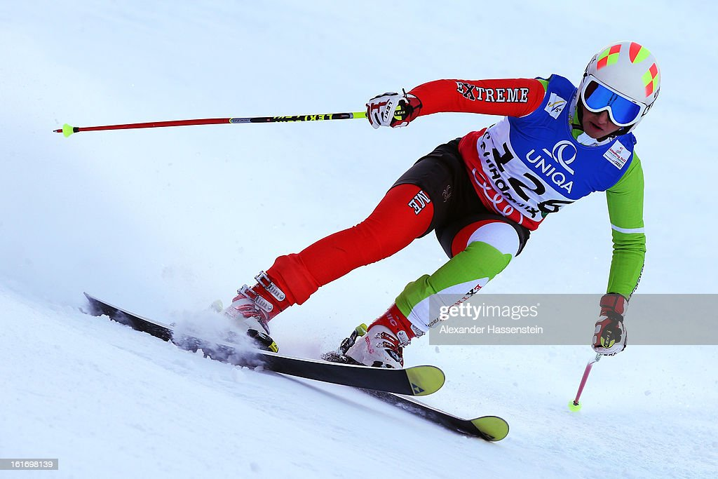 Mitra Kalhor of Iran skis in the Women's Giant Slalom during the Alpine FIS Ski World Championships on February 14, 2013 in Schladming, Austria.