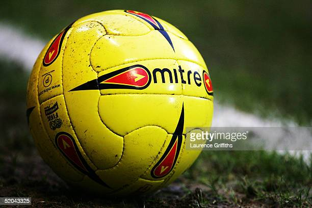 Mitre match ball during the CocaCola Championship match between Nottingham Forest and Millwall at The City Ground on January 15 2005 in Nottingham...